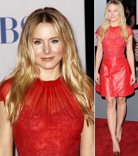 Kristen Bell Valentino red dress 2012 People s Choice Awards