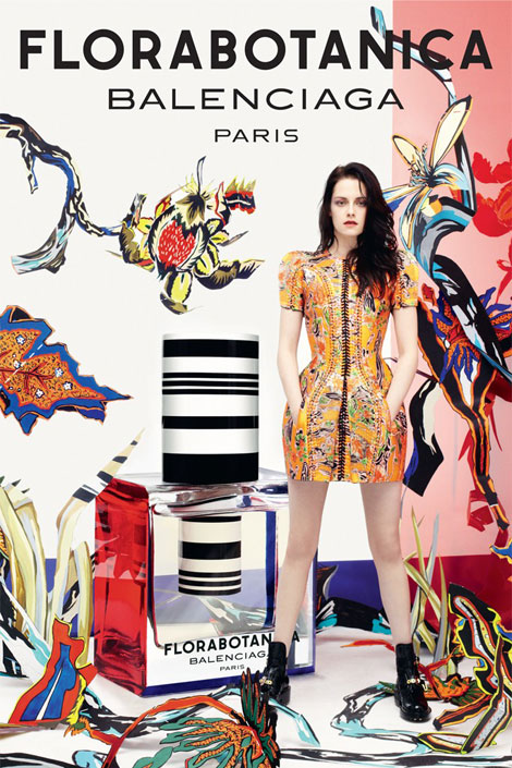 Kristen Stewart Balenciaga Florabotanica perfume ad campaign