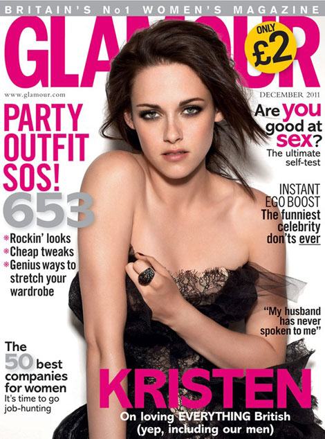 Kristen Stewart Glamour UK December 2011 second cover