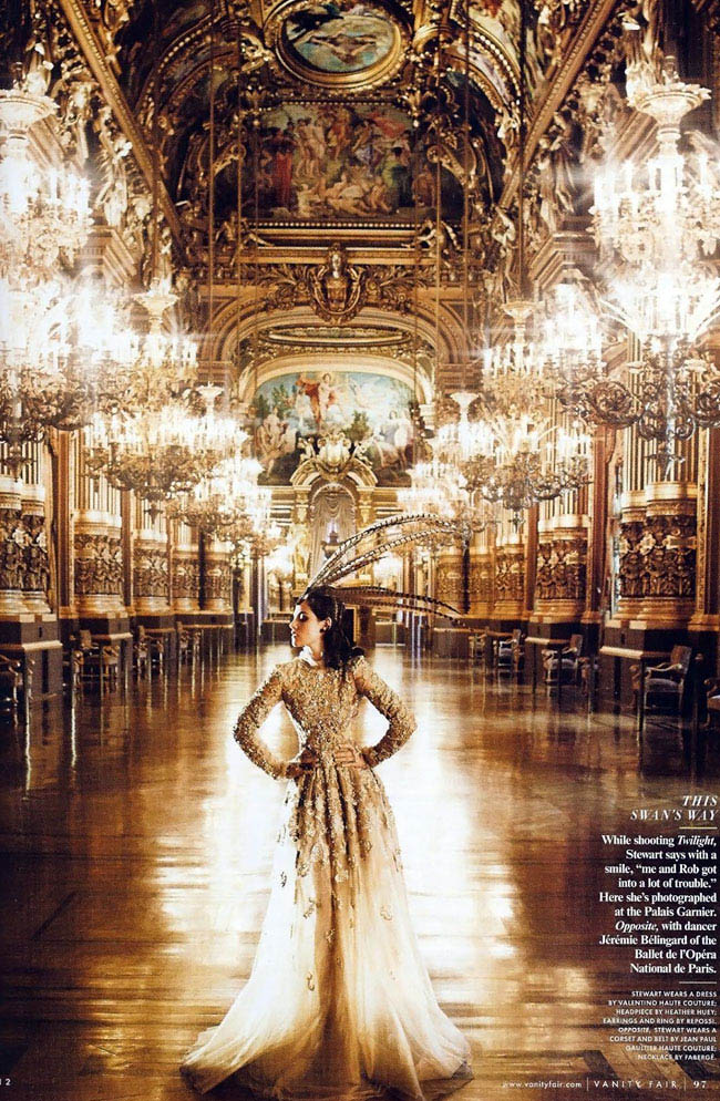 Kristen Stewart Paris couture Vanity Fair pictorial