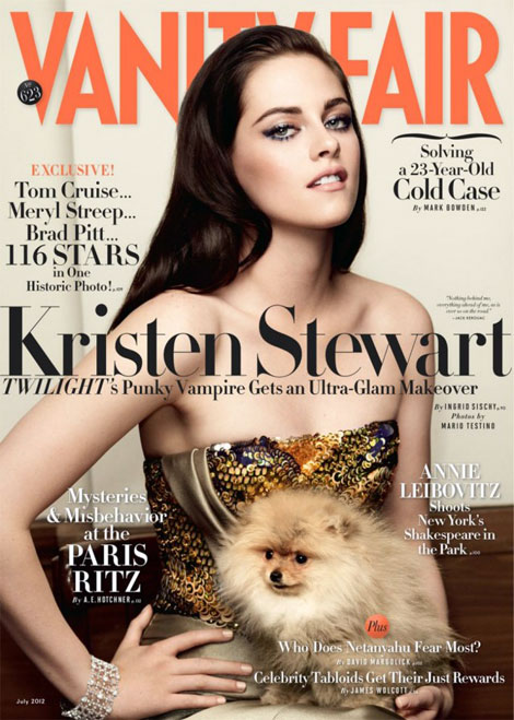 Kristen Stewart Vanity Fair July 2012 cover