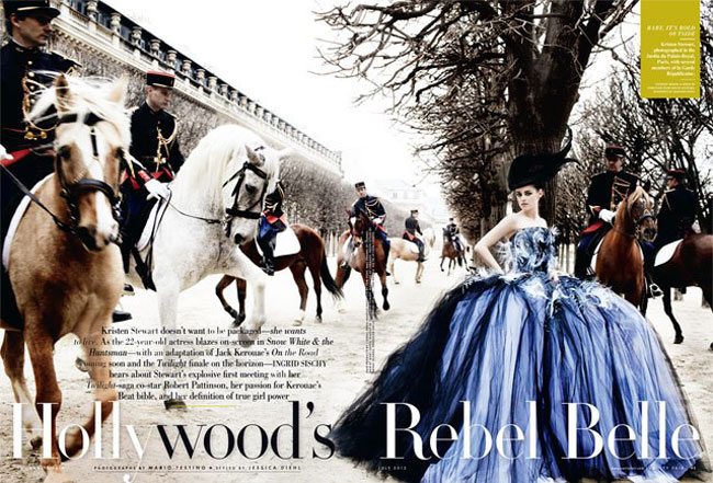 Kristen Stewart Vanity Fair July 2012 horses picture