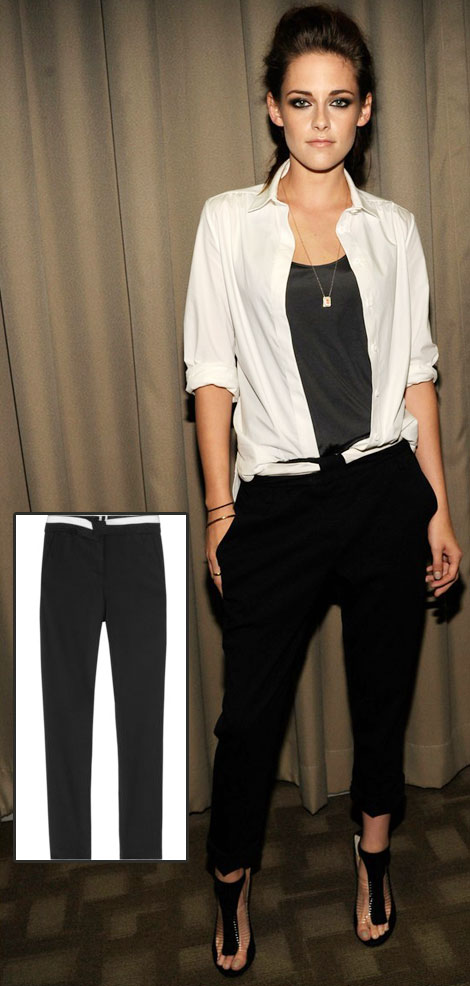 Kristen Stewart black pants ALC On the Road NYC premiere