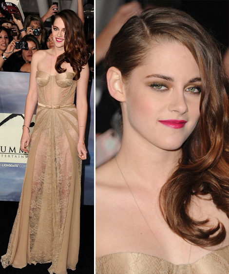 Kristen Stewart's Zuhair Murad See Through Dress, Twilight Breaking Dawn Part Two
