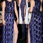 Kristen Stewart sequined leg slit J Mendel dress Breaking Dawn premiere