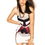 Kristen Stewart wearing mini dress for Glamour