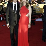 Kyra Sedwick red dress 2012 SAG Awards Kevin Bacon