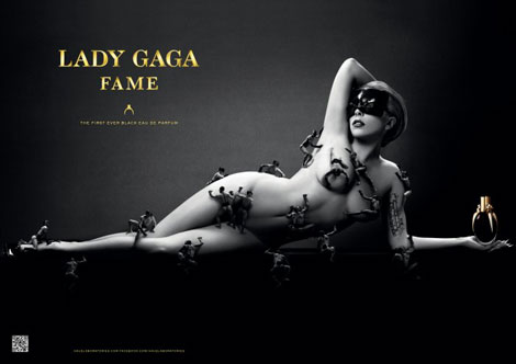 Lady Gaga Fame perfume ad campaign