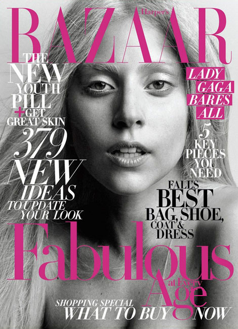 Lady Gaga Harpers Bazaar October 2011 cover
