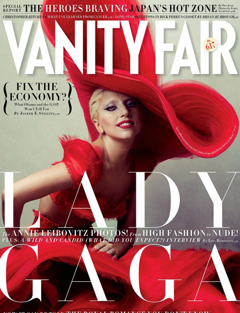 Lady Gaga Vanity Fair January 2012 cover by Annie Leibovitz