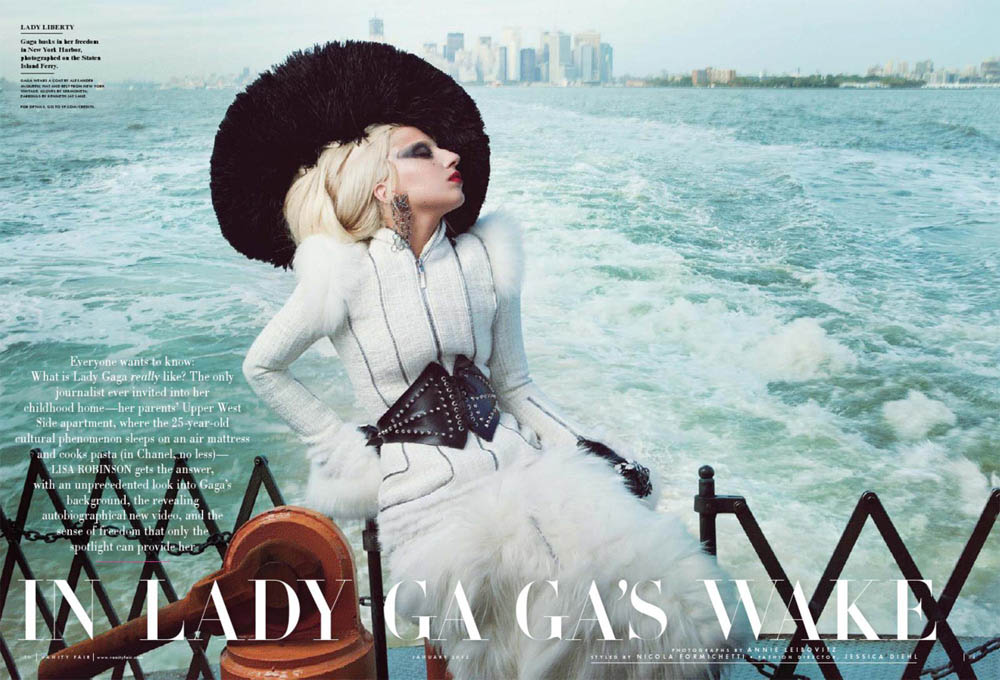 Lady Gaga Vanity Fair beautiful boat picture