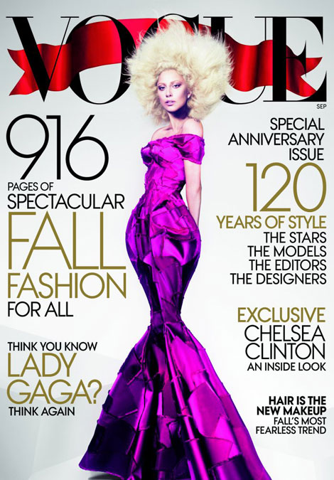 Lady Gaga Vogue September 2012 cover