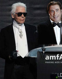 Lagerfeld about Travolta Karl Lagerfeld, Travolta And The Massages