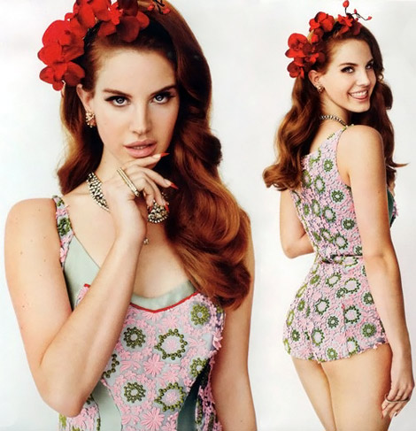 Lana Del Rey photographed by Mario Testino for Vogue