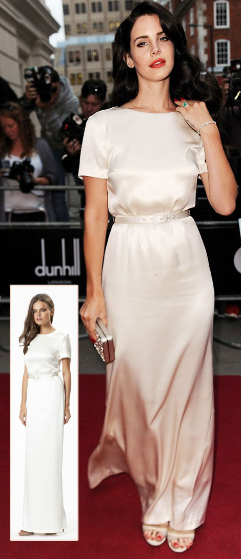 Lana Del Rey White Dress Wayne Cooper Gq Men Of The Year Awards