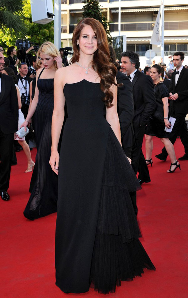 Lana del Rey Alberta Ferretti black dress Cannes 2012 Red Carpet