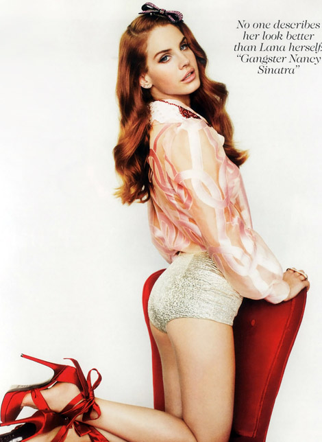 Lana Del Rey pinup Vogue picture
