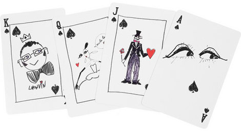 Lanvin Faces Playing Cards black