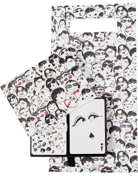 Lanvin Faces Playing Cards paper bag print
