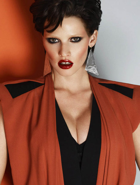 Lara Stone Has Gone Brunette For Vogue Turkey April 2012