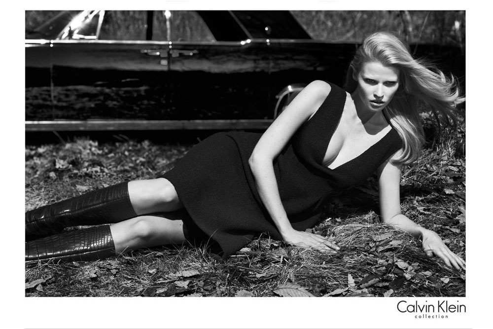 Lara Stone's Calvin Klein's Fall 2012 Ad Campaign Is So Classy. Not