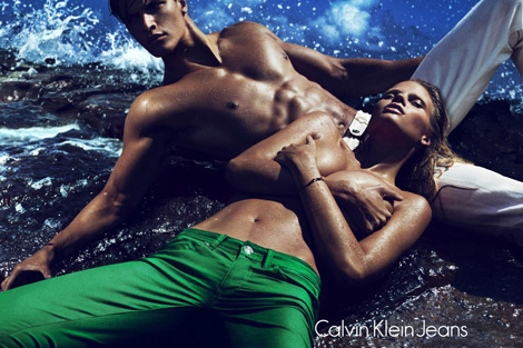 Lara Stone Returns For Calvin Klein Jeans Spring Summer 2012 Ad Campaign