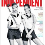 Lara Stone Rosie Huntington Whiteley Independent Sport Relief Issue