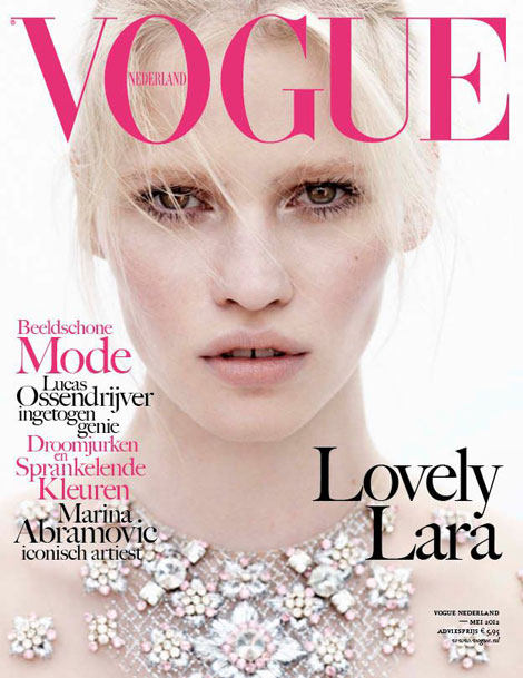 Lara Stone Covers Vogue Netherland May 2012