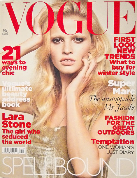 Lara Stone Vogue November 2010 cover