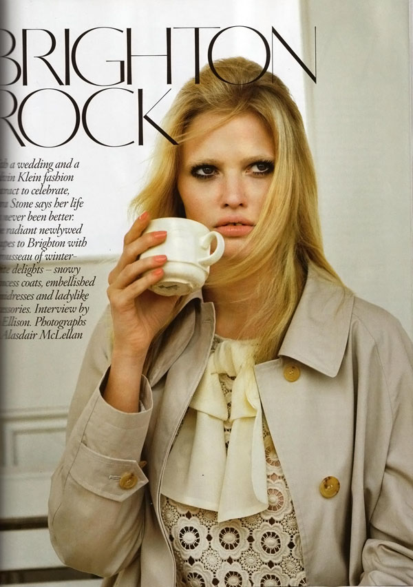 Lara Stone Vogue UK November 2010 3