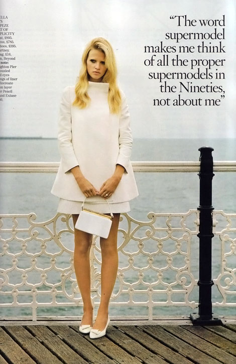 Lara Stone's Vogue UK November 2010 (+ December 2009)