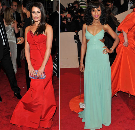 Lea Michelle Keri Washington Escada dresses Met Gala 2011