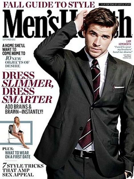 Liam Hemsworth Men s Health September 2012 cover