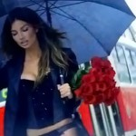 Lily Aldridge Gorgeous Victoria s Secret Holidays campaign roses picture