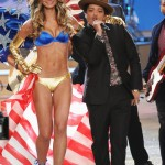 Lily Aldridge with Bruno Mars Victoria s Secret 2012