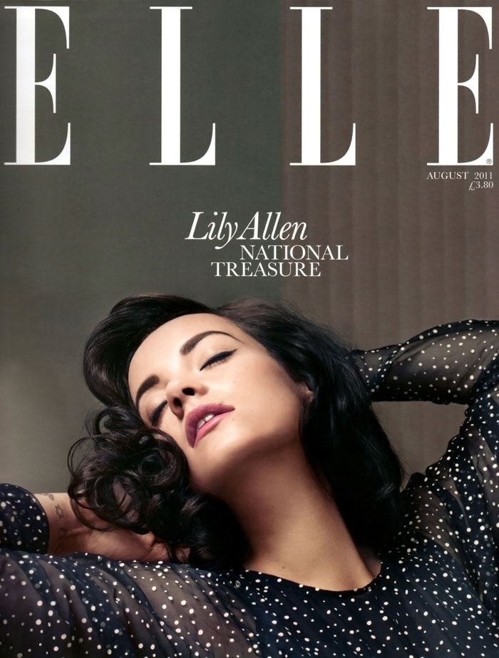 Lily Allen Does Elle UK August 2011