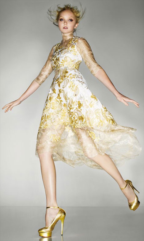 Lily Cole Erdem Dress Olympics Closing Ceremony Vogue
