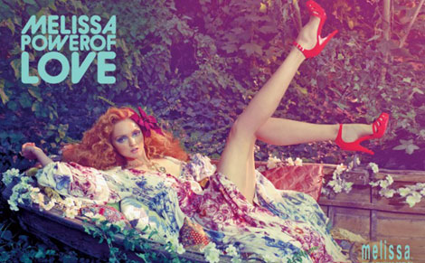 Lily Cole Melissa Power of Love ad campaign