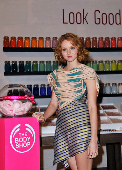 Lily Cole Signed With The Body Shop For The Beauty With Heart Campaign