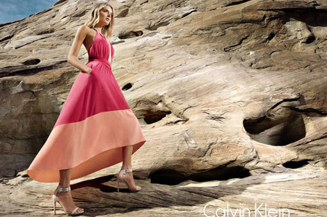 Lily Donaldson Calvin Klein white label Spring Summer 2012 Ad Campaign