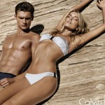 Lily Donaldson Calvin Klein white label swimsuit