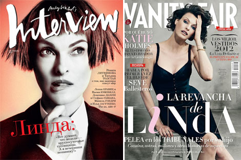 Linda Evangelista covers Interview Russia Vanity Fair Spain September 2012