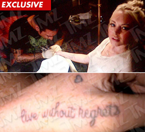 Lindsay Lohan s new tattoo