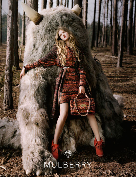 Lindsey Wixson Mulberry Fall 2012 campaign