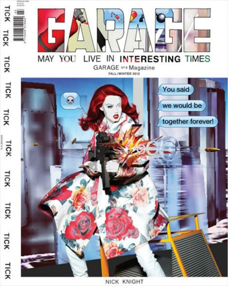 Lindsey Wixson cartoon Garage magazine cover
