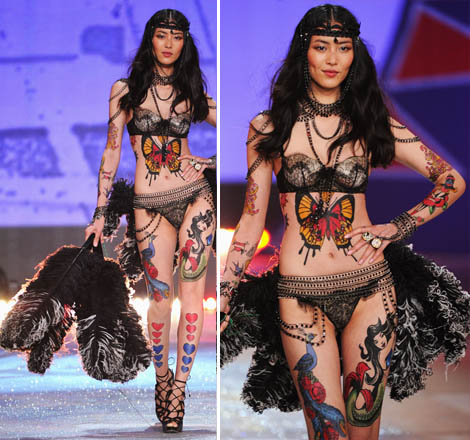 Liu Wen, Tattooed Flapper Circus: Victoria's Secret 2012 Show