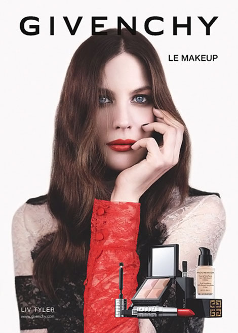 Liv Tyler Givenchy Beauty Fall 2011 ad campaign