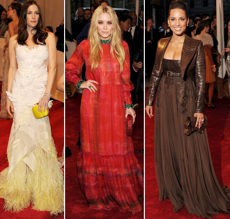 Liv Tyler Mary Kate Olsen Alicia Keys Givenchy dresses met gala 2011