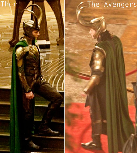 Loki s suit from Thor to The Avengers