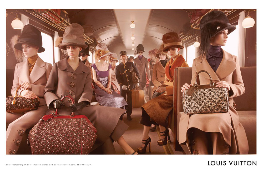 Louis Vuitton Fall 2012 express train ad campaign